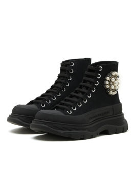 High-top embellished sneakers