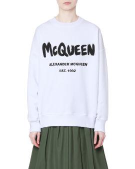 McQueen Graffiti print sweatshirt