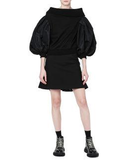 Panelled puffy sleeve sweatshirt