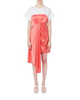 Asymmetrical drape dress