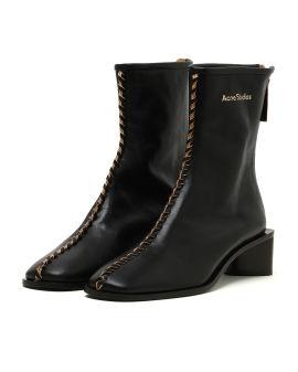 Leather bertine boots
