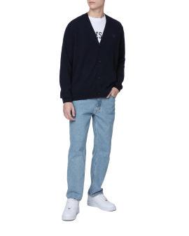 V neck wool cardigan