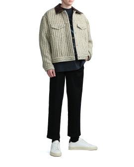 Obind stripe wood padded jacket