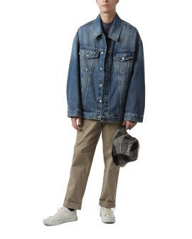 Oversized fit denim jacket