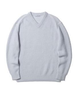 Fluffy alpaca-blend sweater