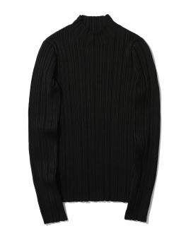 Mock neck ribbed sweater