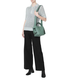 Open-knit polo shirt