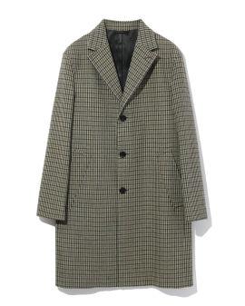 Vichy-check overcoat