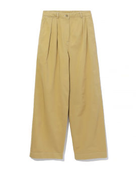 Pleated twill trousers