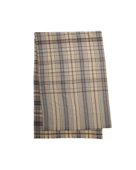 Tartan check wool scarf