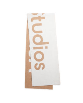 Jacquard logo scarf