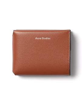 Trifold leather card wallet
