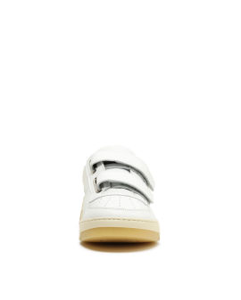 Face patch strap sneakers