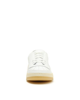 Face patch lace-up sneakers