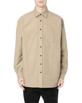 Cotton-blend twill shirt