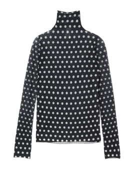 Denise print spotted sheer top