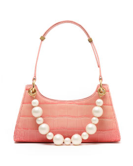 Croc froggy with pearls bag