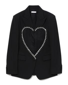 Embellished heart blazer