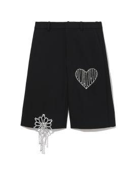 Crystal crochet cut-out shorts