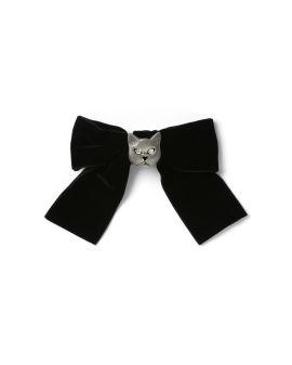 Cat bow hair clip