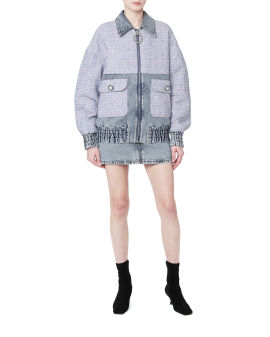 Tweed denim jacket