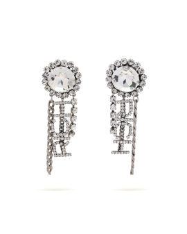 Embellished dangly earrings