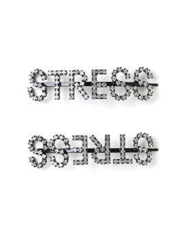 Stress crystal hair clip