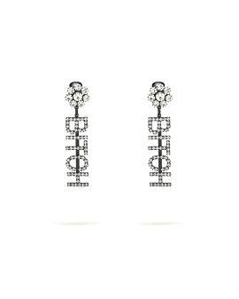 Bit*h crystal earrings