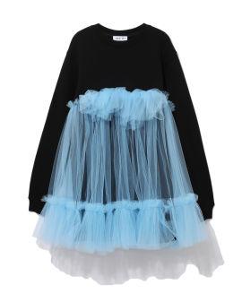 Spliced sweater dress