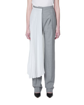 Contrast layered pants