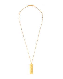 Logo engraved bar necklace
