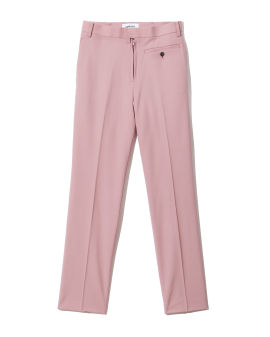 Zip detail straight-leg pants