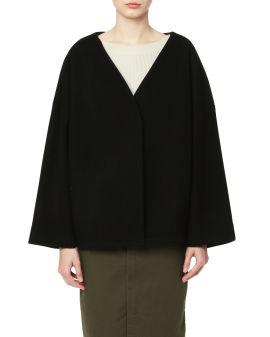 V-neck wrap jacket