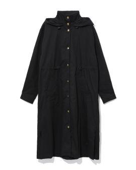 Hooded turtleneck fishtail jacket