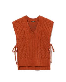 Self-tie knit vest