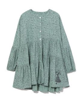 Pattern shirt dress