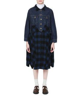 Denim panelled dress