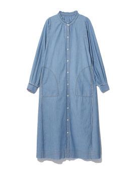 Topstitch A-line dress