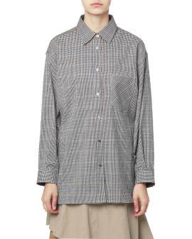 Panelled check shirt