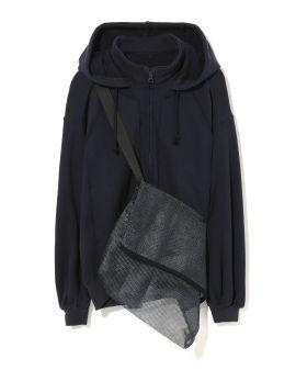 Zip hoodie with mesh bag
