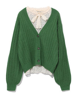 Twinset cardigan lace top