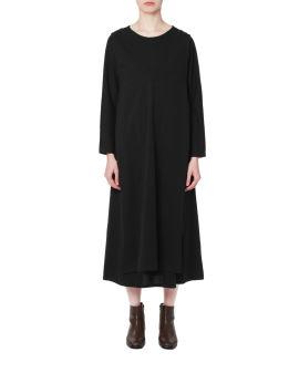 Layered long twinset dress