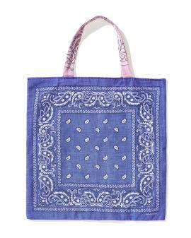 Two-tone bandana tote bag