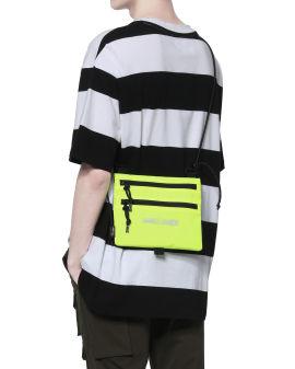 Label badge crossbody bag