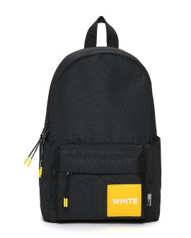 Patched zip backpack
