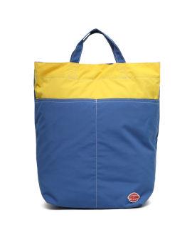 Colourblock crossbody tote bag