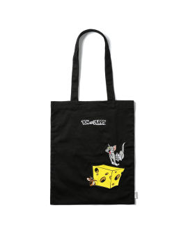 X Tom & Jerry Characters embroidered tote bag
