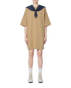 Logo print sailor dress