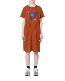 Logo print t-shirt dress