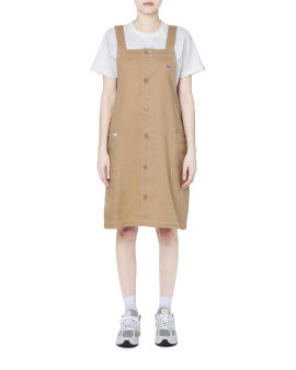 Graphic tee and overall dress set